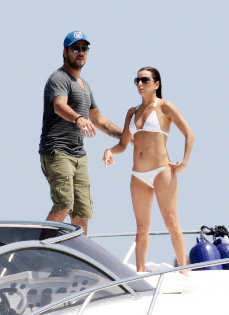 Eva Longoria went with a white bikini during a July 2011 trip to Spain with Eduardo Cruz.