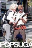 Ryan Kwanten and guest star Rutger Hauer worked on a scene.
