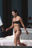Eva Longoria worked on her tan while in Mexico in February 2008.
