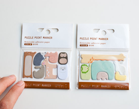 How adorable are these puzzle piece-shaped sticky notes ($6)? It would be hard not to smile every time you peel off one of the cute animals.