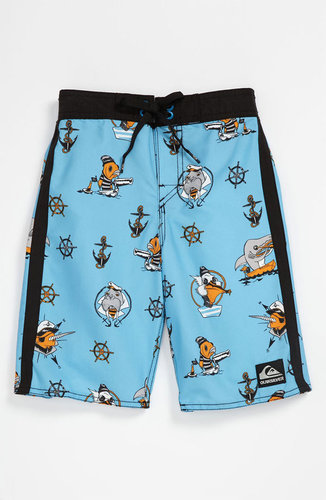 Quiksilver 'Briny Deep' Board Shorts (Little Boys)