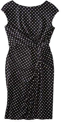 Merona® Women's Polka Dot Twist Waist Dress - Black