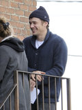 Actor-turned-director James Franco was back to work on the set of Bukowski on Friday in LA.