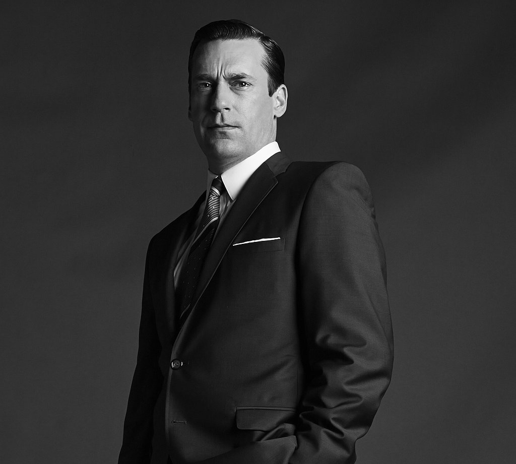 Jon Hamm on Mad Men.