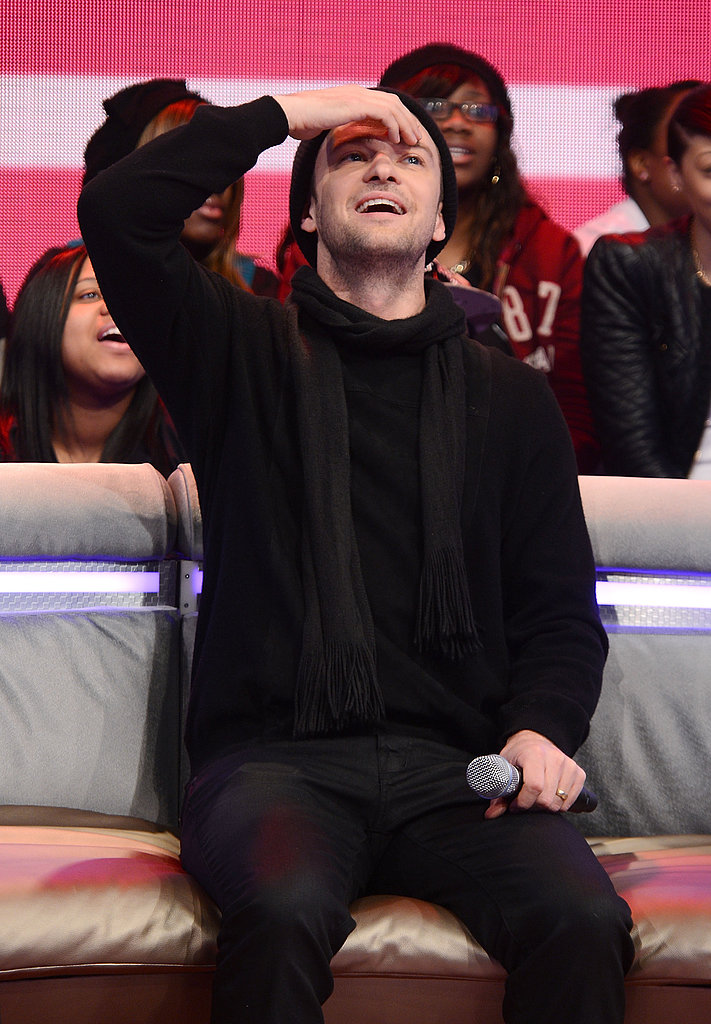 Justin Timberlake promoted his new album on BET's 106 and Park.