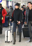 Faith Hill arrived in London with her husband, Tim McGraw, and their three daughters.