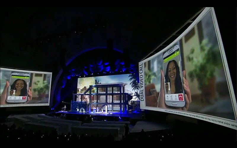 Dual Camera also works during a video chat.
