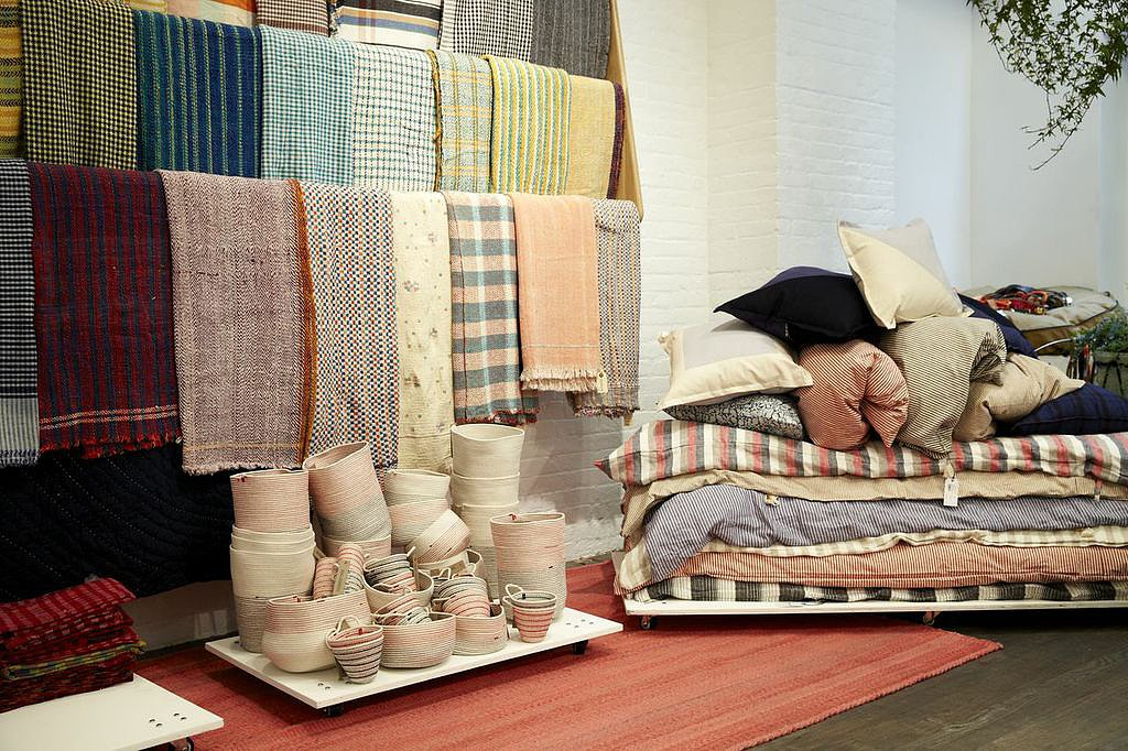 Steven Alan worked with a variety of global vendors to provide a well-curated selection of textiles.
