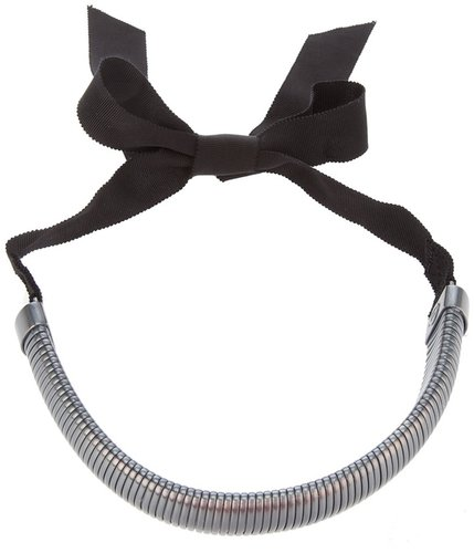 Lanvin bow fastening necklace