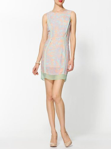 Line & Dot Monet Silk Shift Dress
