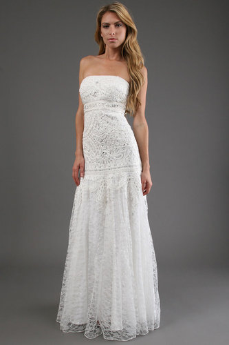 Sue Wong Long Dress in White