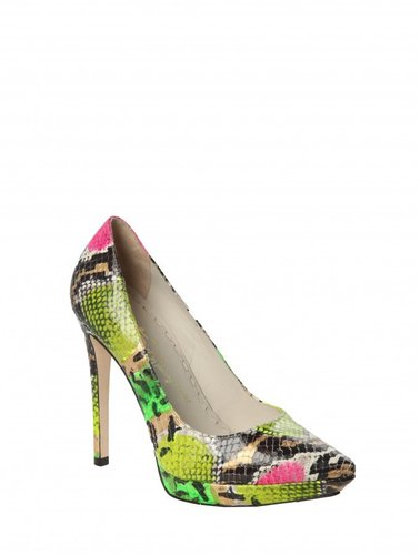 Dido Flash Snake Printed Leather Heel