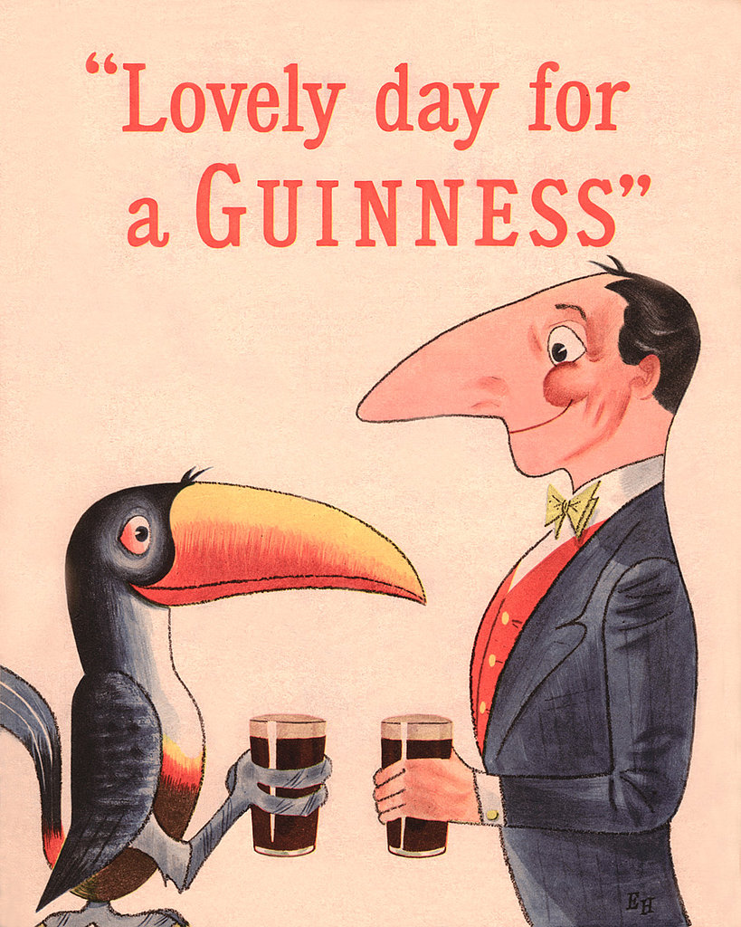 We're seeing double in this vintage Guinness ad.