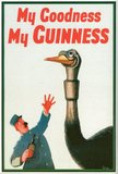 Oh no — the ostrich swallowed a Guinness! Starting in the 1930s, different zoo animals came to symbolize the Guinness family.