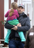 Ben Affleck carried Seraphina in Brentwood.