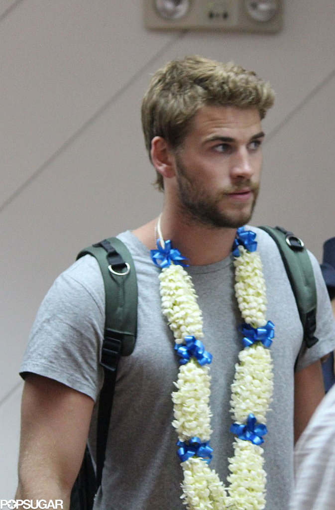 Liam Hemsworth arrived in Manila.