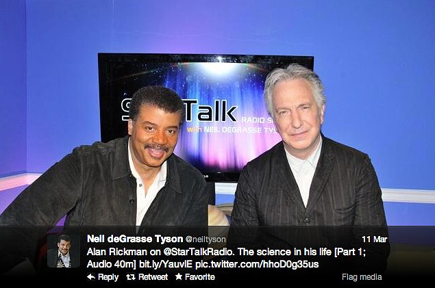 Professor Snape talks science with StarTalk Radio host Neil deGrasse Tyson.