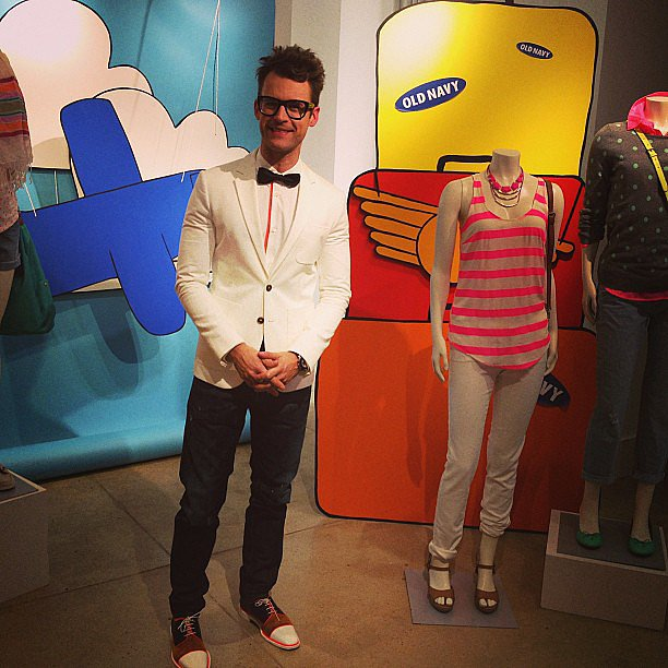 The always-adorable Brad Goreski welcomed us at an Old Navy event.