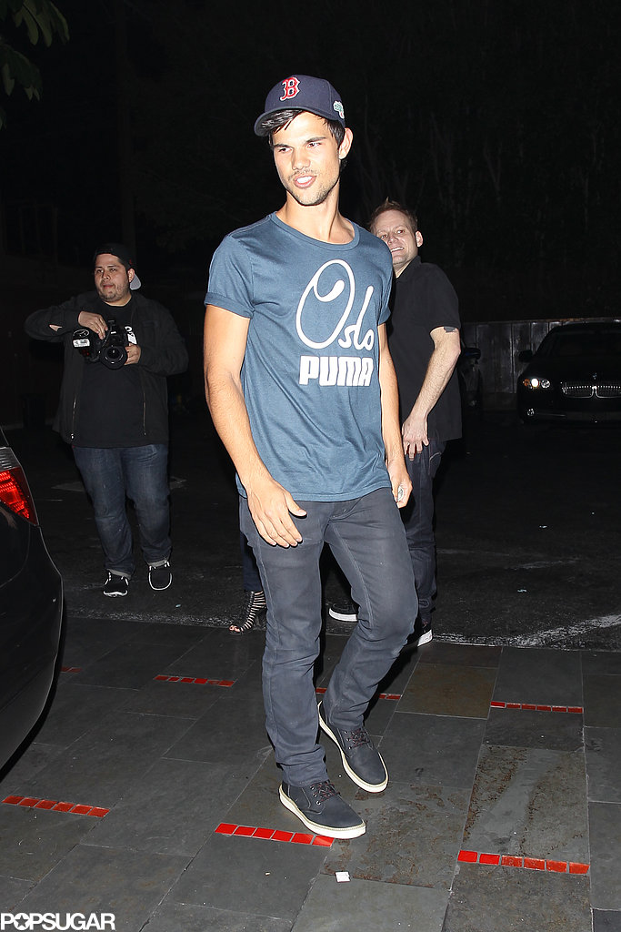 Taylor Lautner Grabs a Bite With Ashley Benson