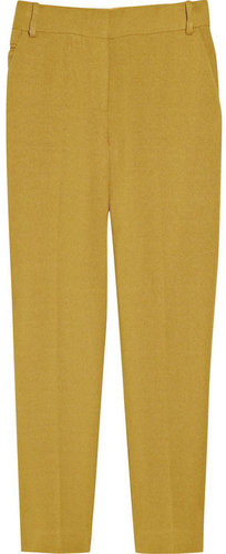 Diane von Furstenberg Georginne Cuff cropped basketweave pants