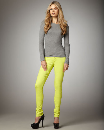 Joe's Jeans Skinny Pants, Lime Punch