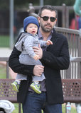 Ben Affleck held Samuel Affleck.