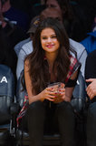 Selena Gomez sipped on a drink.