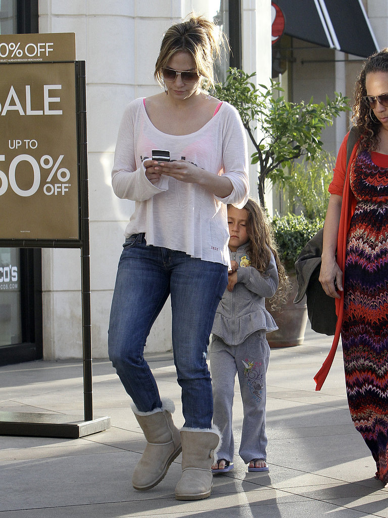 Jennifer Lopez Shops The Grove With Max and Emme ...