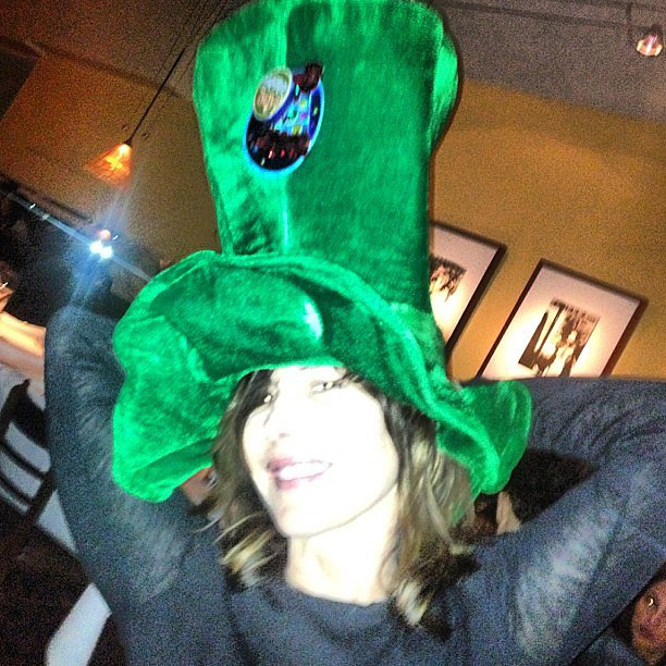 Hair stylist Sally Hershberger donned a green hat on St. Patrick's Day 2013.  Source: Instagram user sallyhershberger