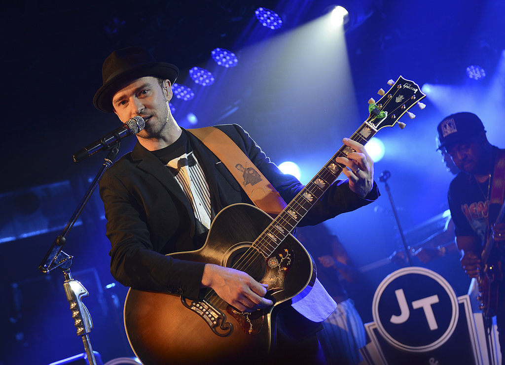Justin Timberlake took the stage at the Myspace secret show at SXSW.
