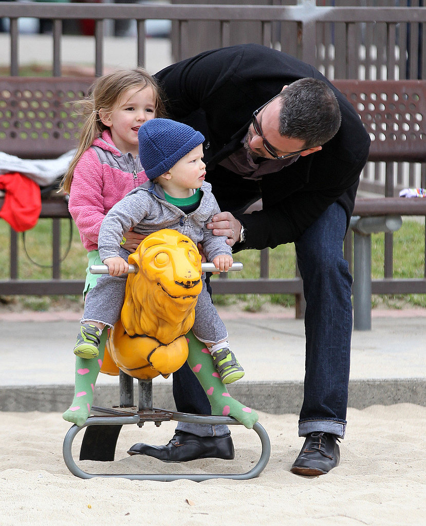 Ben Affleck had a family outing at an LA playground on St. Patrick's Day 2013.