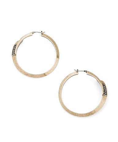 These Spear Hoops ($30) look like average hoops from afar, but get close and you'll notice the amazing black diamond crystal detail.