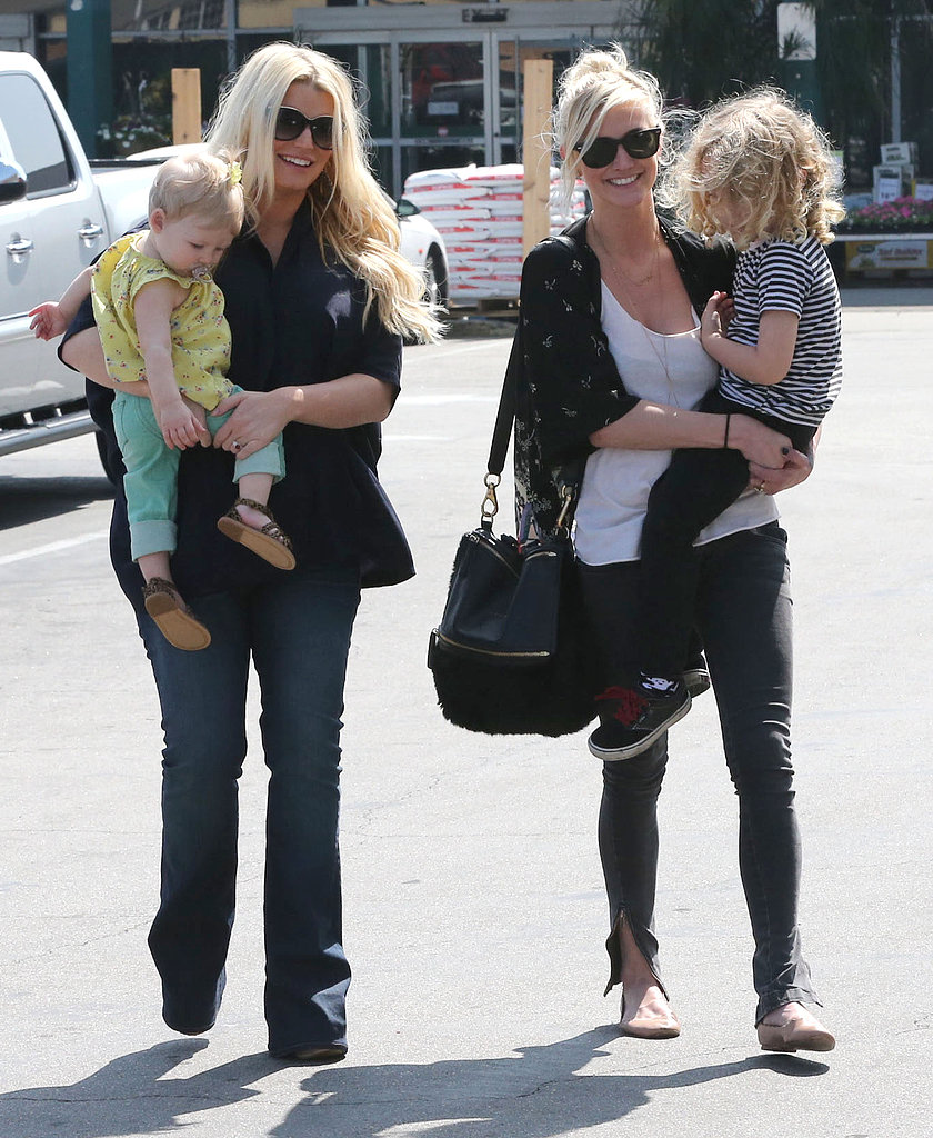 Jessica Simpson and daughter Maxwell had a family outing with her sister, Ashlee Simpson, and Ashlee's son, Bronx, in LA.