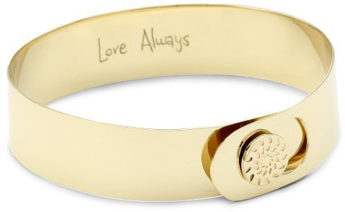 "Phillips Frankel ""Love Always"" Yellow Gold Button Cuff"