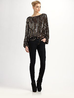 Bianca Sequined Dolman Top
