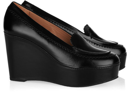 Carven Ursule leather wedge loafers