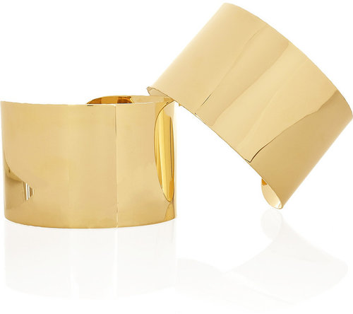 Maison Martin Margiela Set of two 22-karat gold-plated arm cuffs