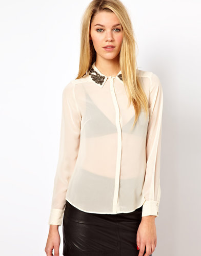 Oasis Embellished Collar Shirt