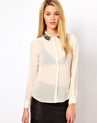 Oasis Embellished Collar Shirt