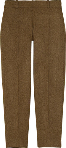 J.Crew Minnie cropped herringbone wool pants
