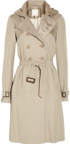 Rebecca Taylor Silk and cotton-blend twill trench coat