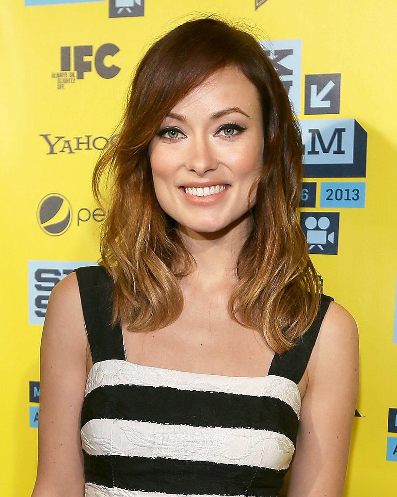 Olivia Wilde provided another case for both winged liner and nude skin.