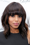Even with heavy bangs, Kerry Washington proved that a smoldering smoky eye with black liner and shades of gray makes a strong beauty statement.