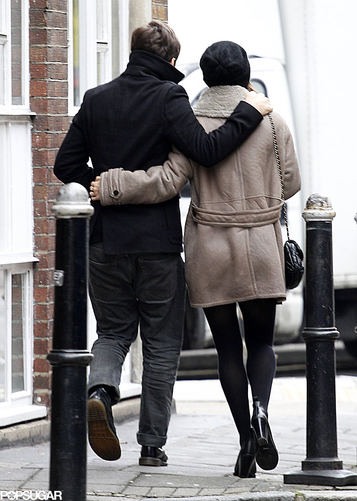 Keira Knightley and James Righton were arm in arm for a stroll in London.