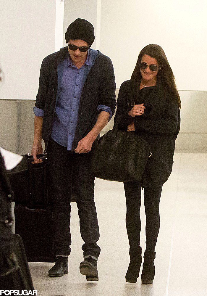 Lea Michele and Cory Monteith Return From a Vancouver Wedding Weekend