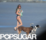 Gisele Bündchen carried Vivian for a walk on the beach.