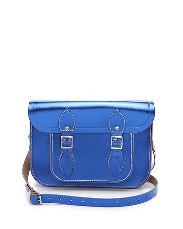 Jump on the season's burgeoning blue trend with Cambridge Satchel's Metallic bag ($140, originally $175).