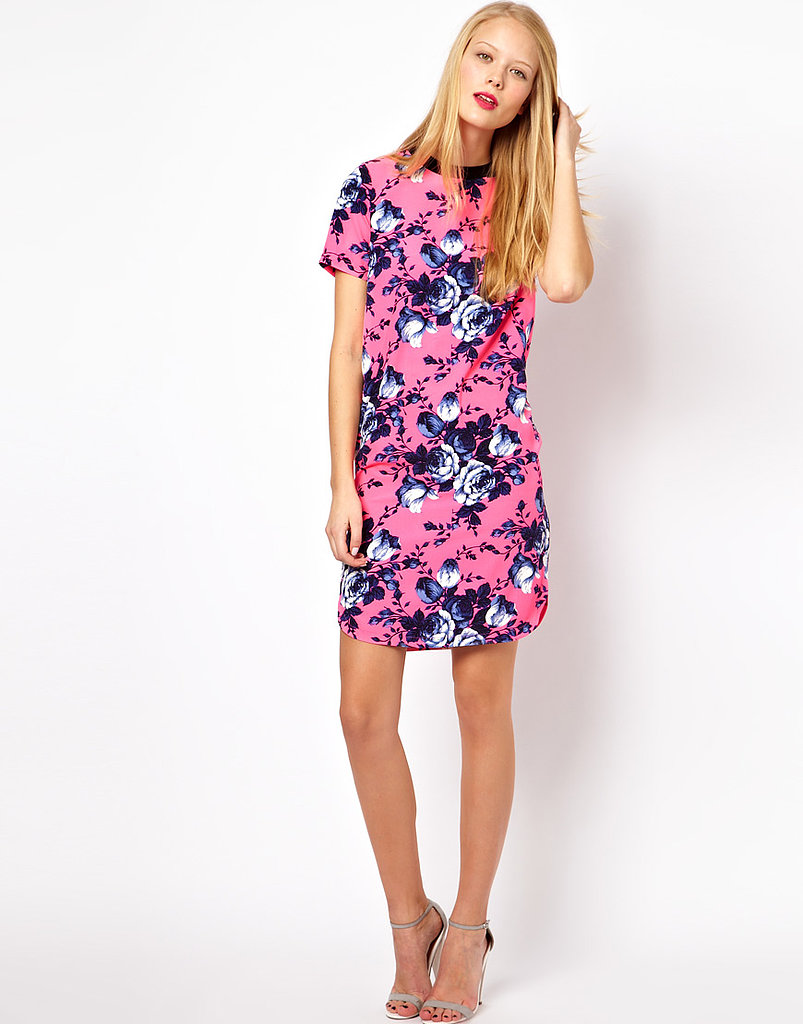 We're trading in our LBDs and dark sheaths for a wear-anywhere dress that's loaded with personality and covered in a fresh Spring print. This ASOS t-shirt dress in a bright floral print ($64) is the kind you could wear day to night, office to evening out, with just a simple switch of footwear or accessories.