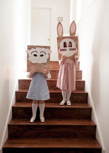 Brown Sack Easter Masks