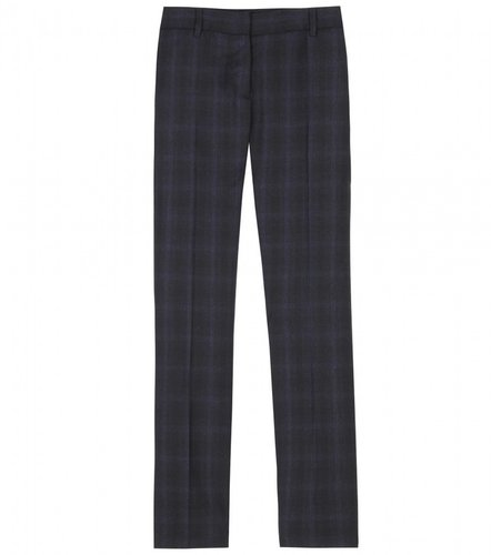 Miu Miu CROPPED WOOL PLAID TROUSERS
